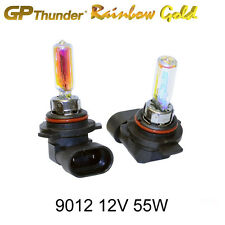 GP-Thunder 2500K Rainbow Gold 9012 9012LL HIR2 PX22d 55W Xenon Light Bulbs Pair