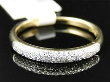 10K Yellow Gold Womens Round Cut Diamond Pave Set Wedding band Ring 3.5 MM