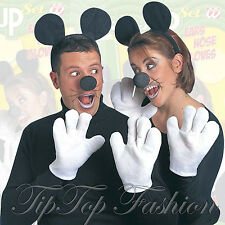 MOUSE DRESS UP SET INC. NOSE EARS GLOVES 1 PER PACK FANCY DRESS PARTY ACCESSORY