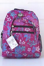 Hawaiian Hibiscus Turtle Print School Travel Beach Hiking Backpack PINK EX-02PK