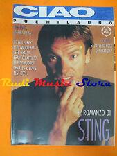 rivista CIAO 2001 9/1993 Sting Ice Cube Fleetwood Mac Battiato Bryan Ferry No*cd