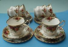 SIX PRETTY ROYAL ALBERT OLD COUNTRY ROSES TRIOS
