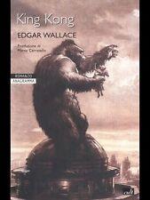 LIBRO/BOOK ROMANZO ANAGRAMMA EDGAR WALLACE-KING KONG  dracula,frankenstein,verne