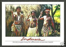 Dani Tribe Men Sali Costume Beads Spear Irian Jaya Indonesia