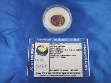 Natural Ametrine Golden Orange Purple 14.73 Cts Cert Appraisal $1220 AGI AMT14