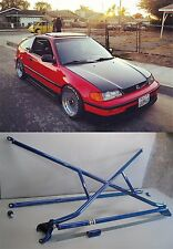 X-Bar+c-Pillar bar+Lower Bar Rear Crossbar 88-91 Honda Civic CR-X EF JDM SI