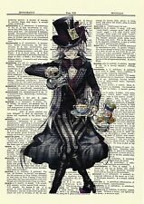 Undertaker Black Butler Dictionary Art Print Anime Poster Kuroshitsuji Picture