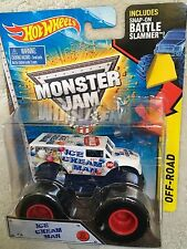 HOT WHEELS MONSTER JAM ICE CREAM MAN TRUCK with Battle Slammer