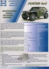 PIMOT FUNTER 4x4 2015 POLISH ARMY MILITARY CONCEPT CAR BROCHURE PROSPEKT FOLDER