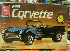 Corvette 1953 2 in 1 custom stock included AMT USA scale 1/25 #6519 plastic kit