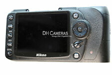 Nikon D90 Rear cover Rubber, LCD screen, flex cable, SD card door, Window DH2385