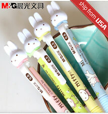 US 4pcs Kawaii Fun 0.5mm Mechanical pencils M&G Miffy Rabbit bunny Figure cute