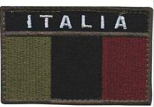 Patch toppa ITALIA ESERCITO bassa visibilità VELCR. TERMOSALDABILE termosaldato