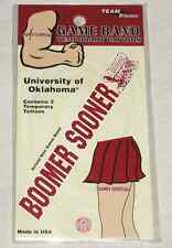 University of Oklahoma College Game Band Temporary Tattoos Pack of 3