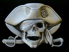BIG PIRATE SKULL AND BONES  BELT BUCKLE NEW! BUCKLES