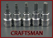 CRAFTSMAN HAND TOOLS 5pc 3/8 SAE Hex Allen key bit ratchet wrench socket set !!!