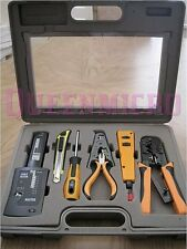 10-Piece PC Professional Installer Network LAN Tester Punch Down Crimp Tool Kit