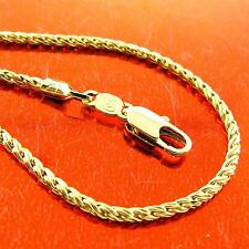 A197 GENUINE REAL 18K YELLOW G/F GOLD SOLID LADIES FINE PENDANT NECKLACE CHAIN