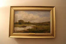 Victorian oil on canvas James Peel 1811 -1906 on the river Greta lake district