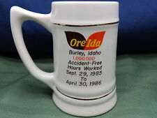 VINTAGE 80'S OREIDA POTATO FROZEN FOOD 1M ACCIDENT FREE HRS WORKED MUG BURLEY ID