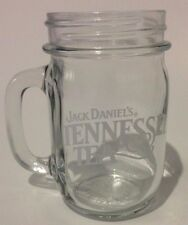 Jack Daniels Tennessee Tea Glass Mason Jar Mug Whiskey Advertising Collectible
