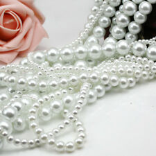 3-16mm Quality glass pearls beads Round beads Jewelry fittings White and Ivory
