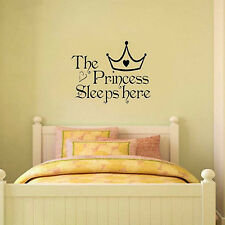 Newest Princess Removable Wall Sticker Girls Bedroom Decor Baby Room Decal Art
