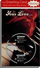 Karaoke Valentine Card with 3 Song CD! Your Song, Valentine, Beautiful In My Eye