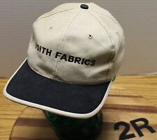 NICE VOITH FABRICS BEIGE & BLACK ADJUSTABLE HAT IN VERY GOOD CONDITION