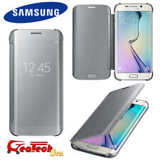 Clear View Cover Originale Per Samsung Galaxy S6 Edge G925 Custodia Flip SILVER