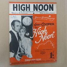 Canción Hoja High Noon Gary Cooper, 1952