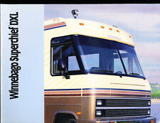 1989 Winnebago Superchief DXL Motorhome Sales  Brochure Folder - Camper RV Coach