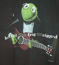 Vtg Kermit The Frog T Shirt RARE Eric Clapton SESAME STREET Concert TOUR 90's