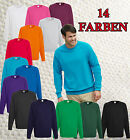 FRUIT OF THE LOOM Lightweight Raglan Sweatshirt langarm S - XXL 14 Farben NEU