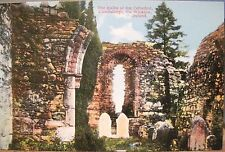 Irish Postcard CATHEDRAL Ruins GLENDALOUGH Site Wicklow Ireland Fergus O'Connor