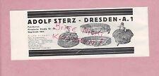 DRESDEN, Werbung 1928, Adolf Sterz Baby-Armbändchen