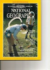 NATIONAL GEOGRAPHIC.Oct'84. POLLEN. Maoris + MAP, Spain