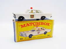 "LOT 33364 | Matchbox 55 C Ford Galaxie Police Car Polizei neuwertig in ""E""-Box"