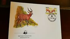 WWF World Wildlife Fund Official First Day Cover stamp Briefmarke Ghana 1984