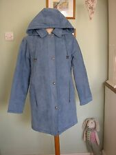 NEW ISLE POWDER BLUE VELVETY SOFT WINTER COAT SZ 12 QUILTED/PARKA/EWM/DUFFLE