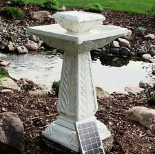 Large Solar Powered Outdoor Garden Water Fountain Feature Pond Bird Bath F1
