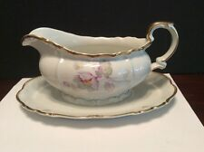 Edelstein Germany Bavaria Charlotte Gravy Boat With Attached Underplate