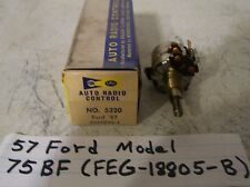1957  57 Ford  radio volume control NOS for  model 75BF