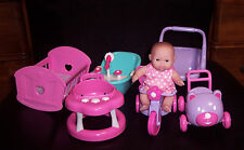 "NEW Berenguer Doll Lots To Love Babies 5"" Furniture Mini Nursery PlaySet Toys"