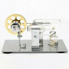 Mini Hot Air Steam Powered Stirling Engine Model Toy Physics Experiment