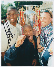 Ian WRIGHT, Patrick VIEIRA & Emmanuel PETIT SIGNED Autograph Photo AFTAL ARSENAL