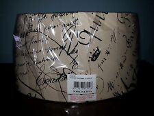 NOTARY Oval lamp Shade French Script Slip Uno Fitter  NEW beige black