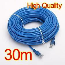 30M Meter RJ45 CAT5 Ethernet Cable Lan Network Wire Internet Lead Cord Router