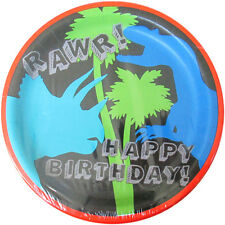 DINOSAUR Dino-Mite LARGE PAPER PLATES (8) ~ Birthday Party Supplies Dinner Lunch