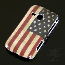 Samsung Galaxy Mini 2 S6500 Hard Case Hülle Etui USA Flagge Retro Vintage